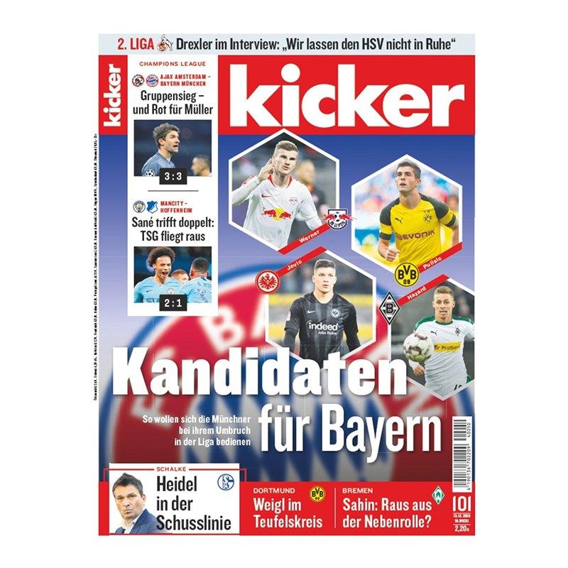 kicker Ausgabe 101/2018 vom 13.12.2018 - rot