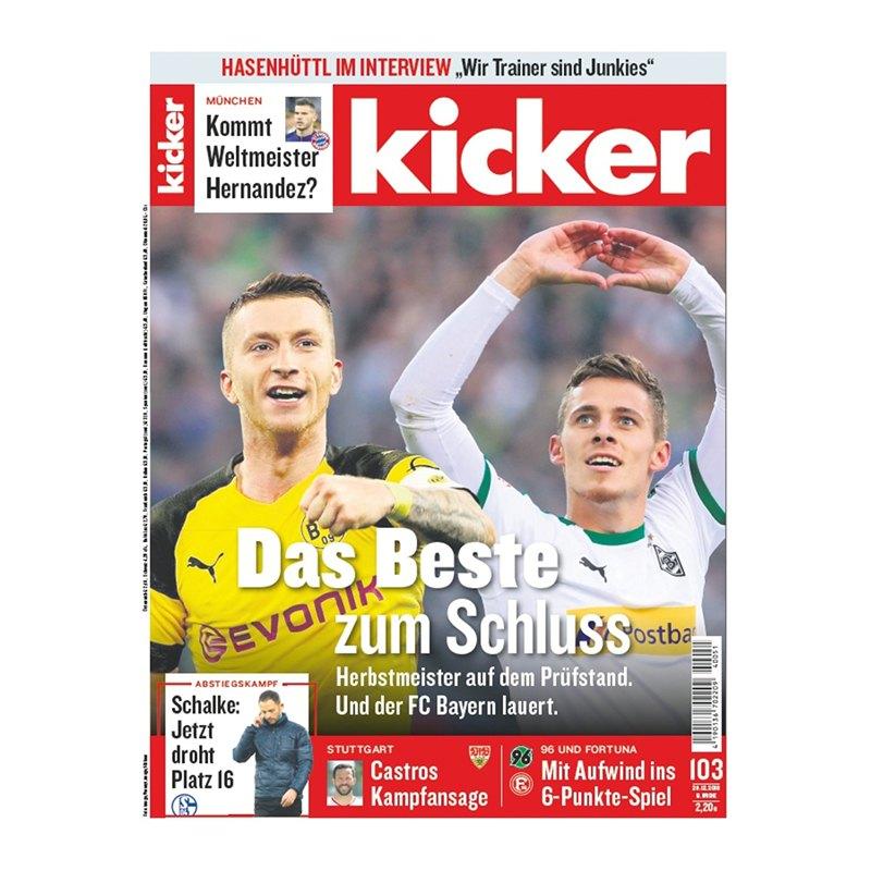 kicker Ausgabe 103/2018 vom 20.12.2018 - rot
