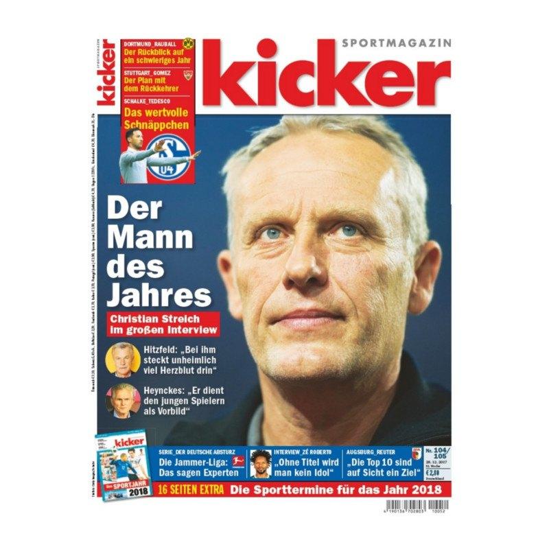 kicker Ausgabe 104-105/2017 vom 28.12.2017 - rot