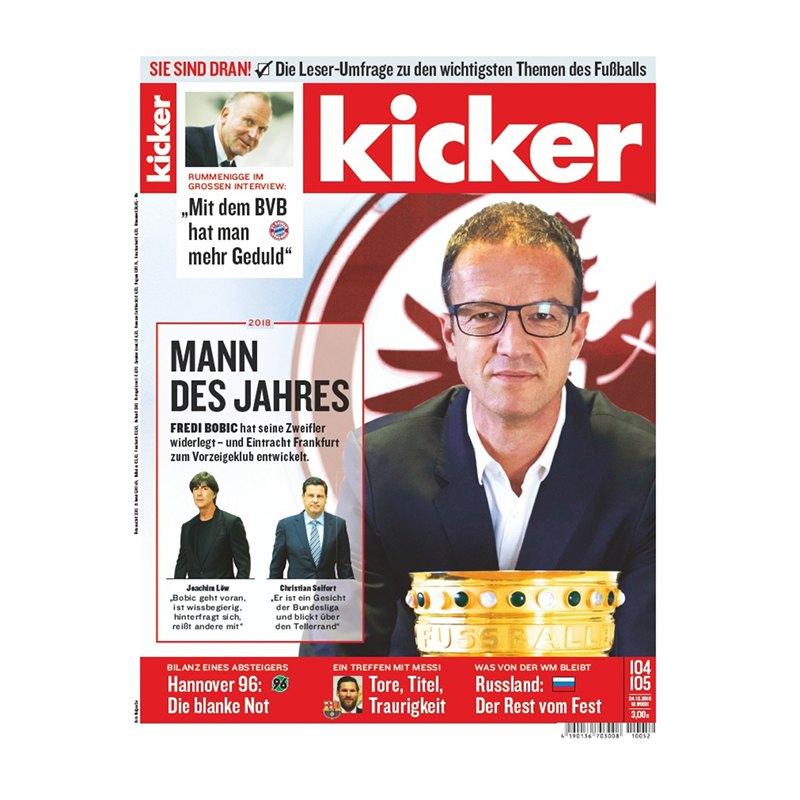 kicker Ausgabe 104/2018 vom 24.12.2018 - rot