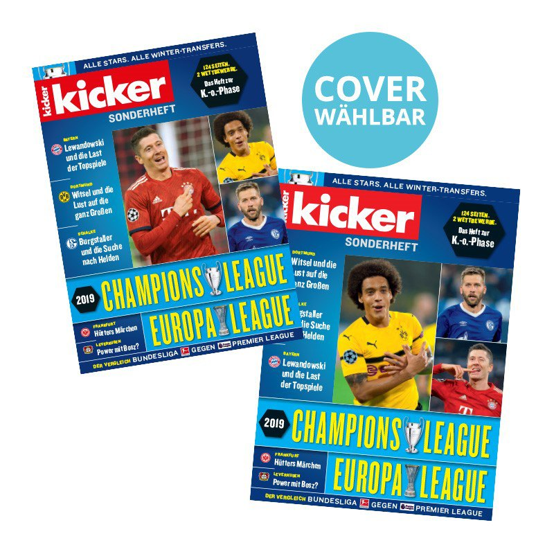 kicker Champions League/Europa League 2019 - rot