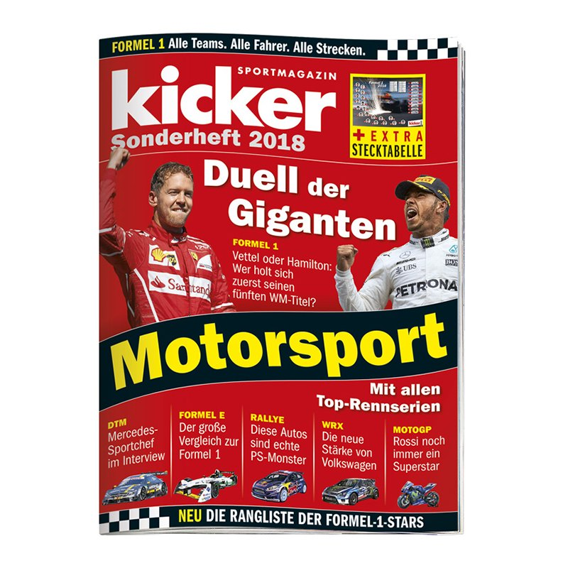 kicker Sonderheft Motorsport 2018 - rot