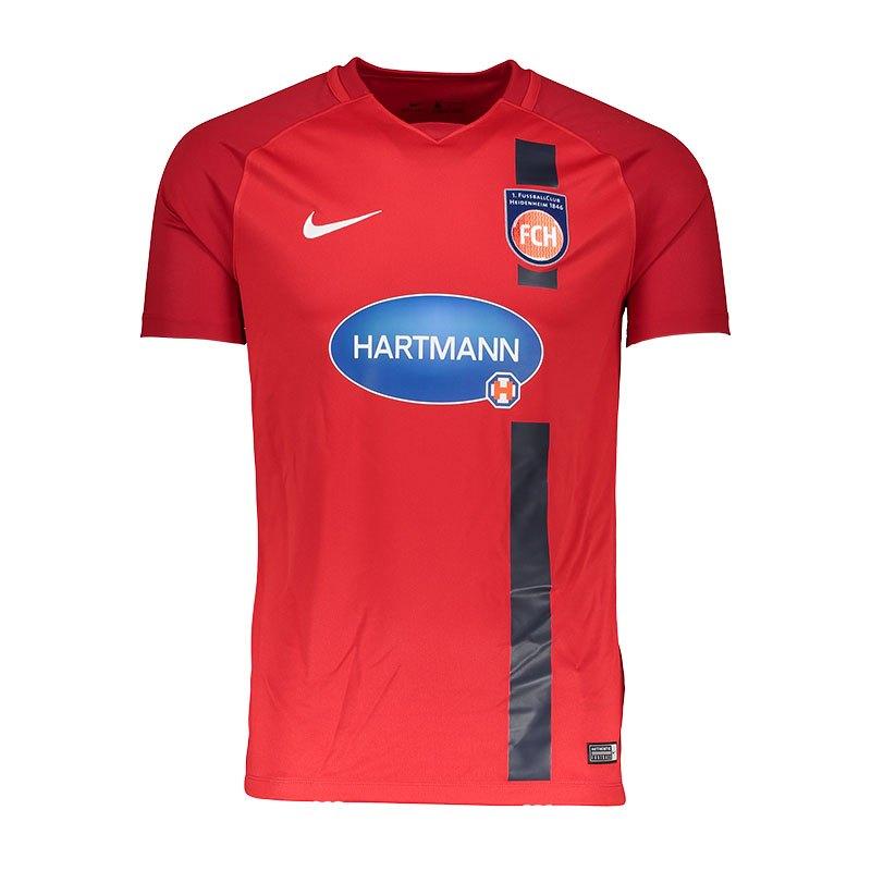 Nike 1. FC Heidenheim Trikot Home 2017/2018 F657 - rot