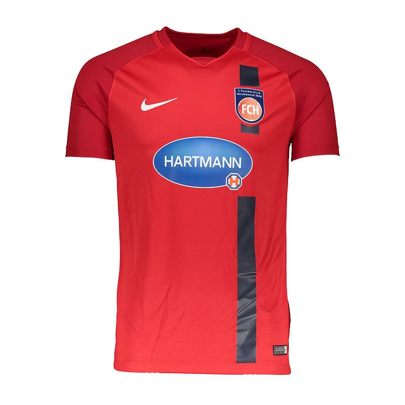 Nike 1. FC Heidenheim Trikot Home Kids 17/18 F657 - rot