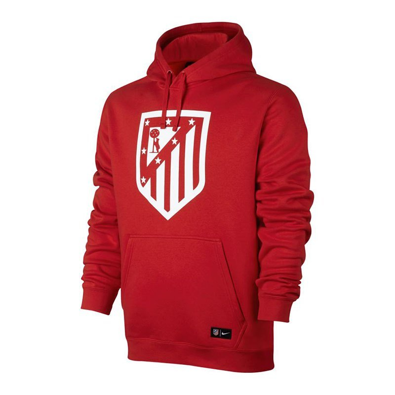 nike atletico madrid pullover hoody rot weiss f611. Black Bedroom Furniture Sets. Home Design Ideas