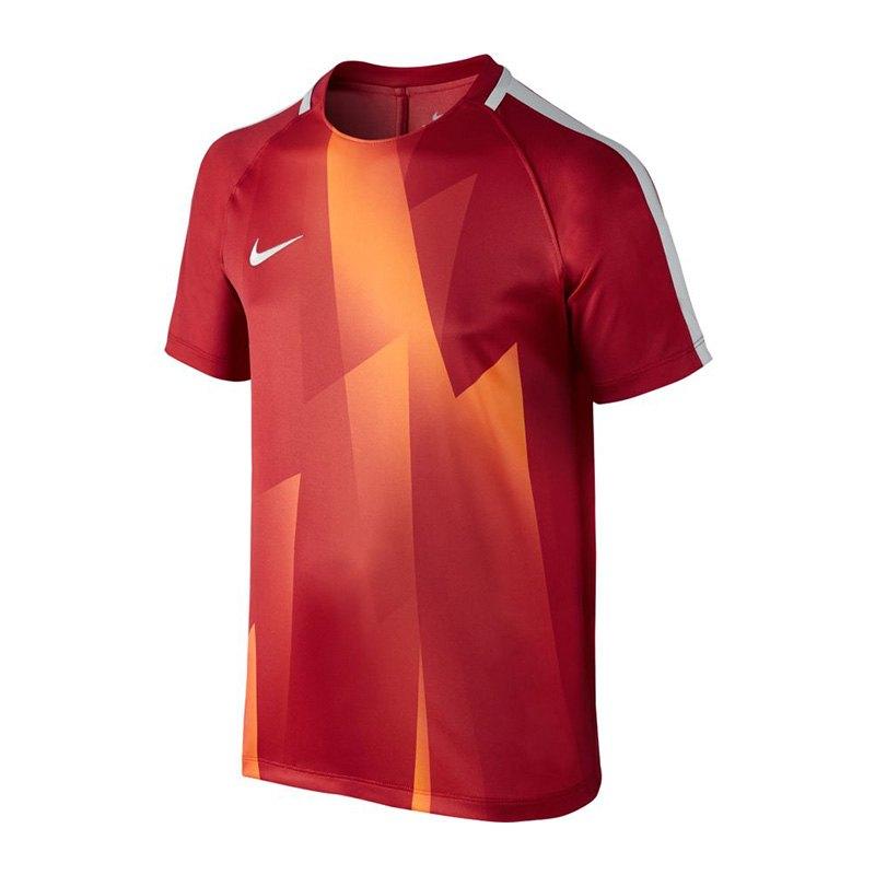 Nike Dry Squad Top T Shirt Kids Rot Orange F602 Rot