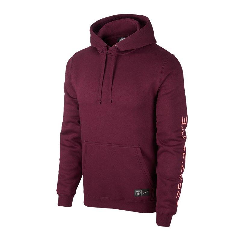 Nike FC Barcelona Kapuzensweatshirt Dunkelrot F673 - rot