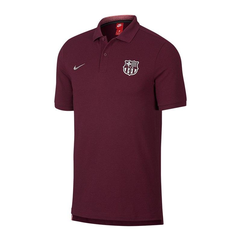 Nike FC Barcelona Poloshirt Dunkelrot F669 - rot