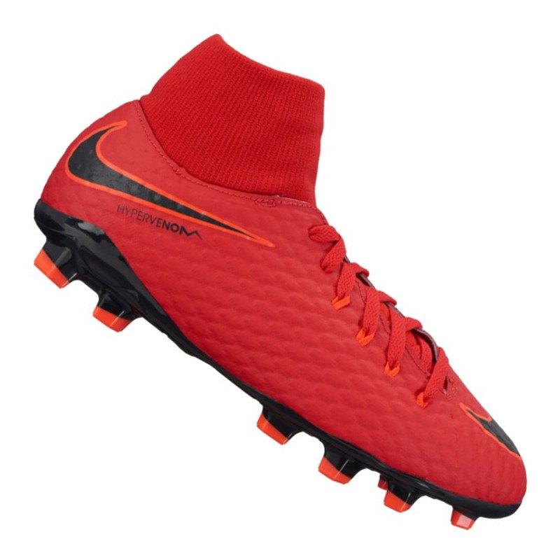 Nike Jr Hypervenom Phelon III DF FG Kids Rot F616 - rot