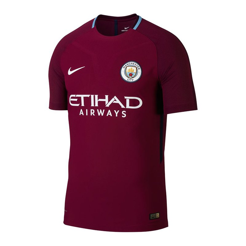Nike Manchester City Auth. Trikot Away 17/18 F667 - rot