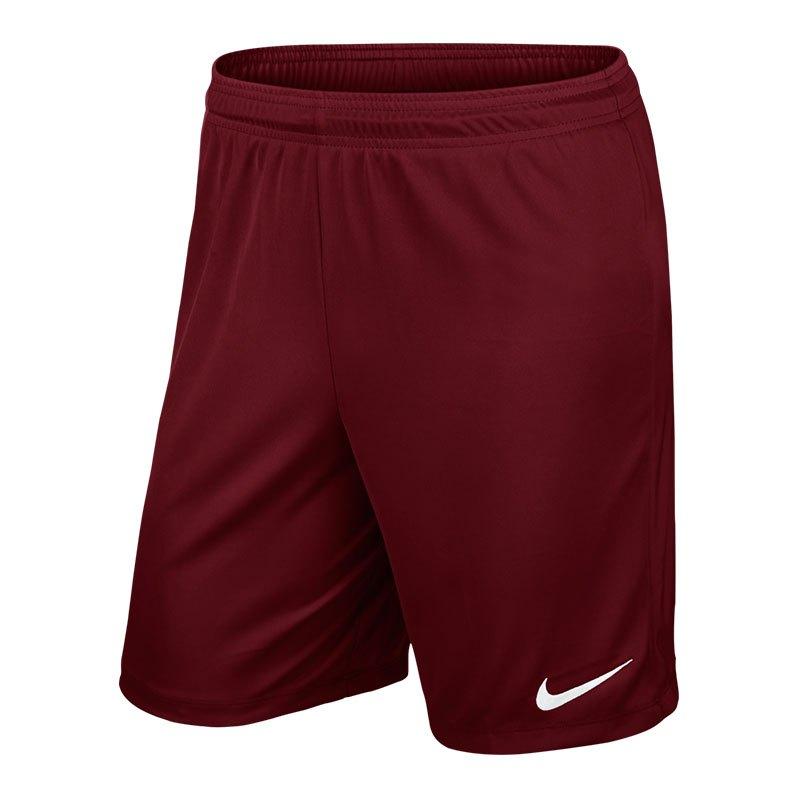 Nike Park II Short ohne Innenslip Dunkelrot F677 - rot