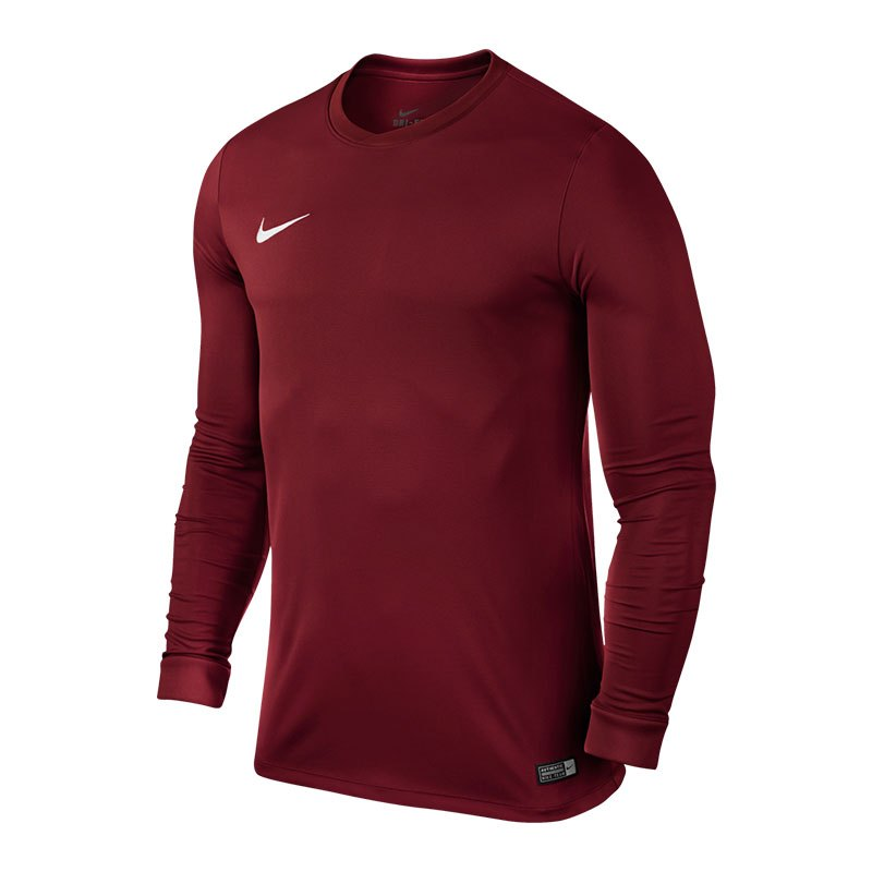 Nike Park VI Trikot langarm Kids Dunkelrot F677 - rot