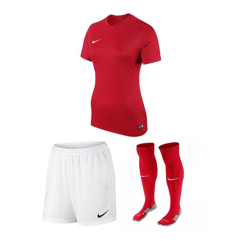 Nike Park VI Trikotset Damen Rot Weiss F657 - rot