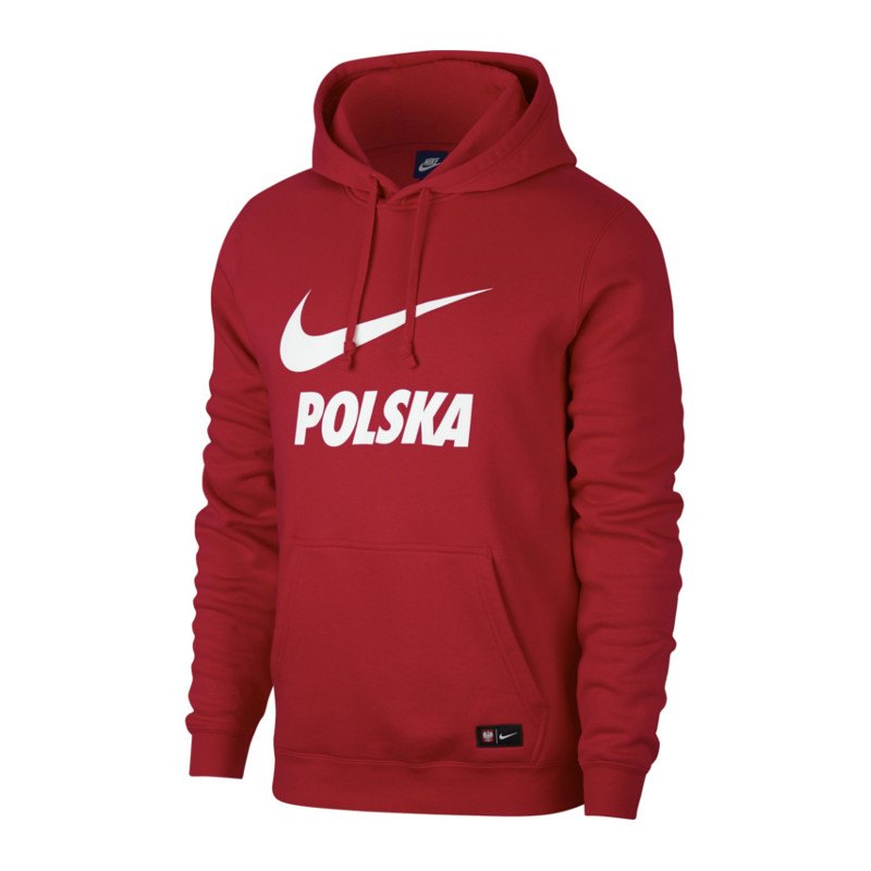 nike polen hoody kapuzensweatshirt rot weiss f608 alltag. Black Bedroom Furniture Sets. Home Design Ideas