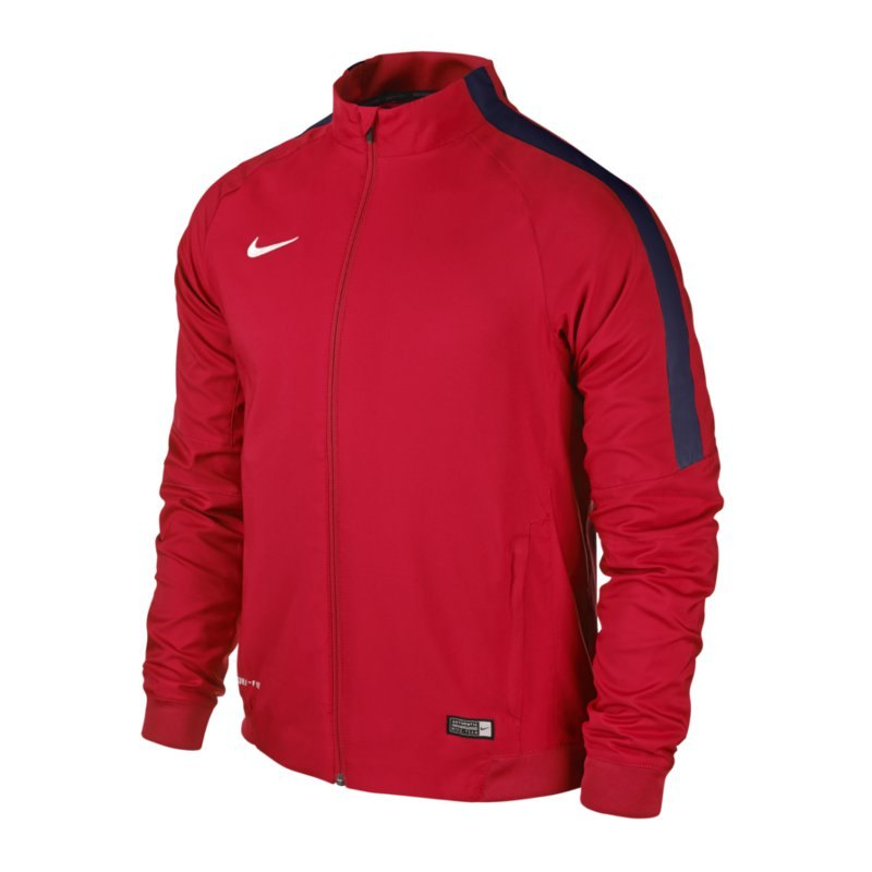 Nike Squad 15 Sideline Woven Jacke Rot F662 - rot