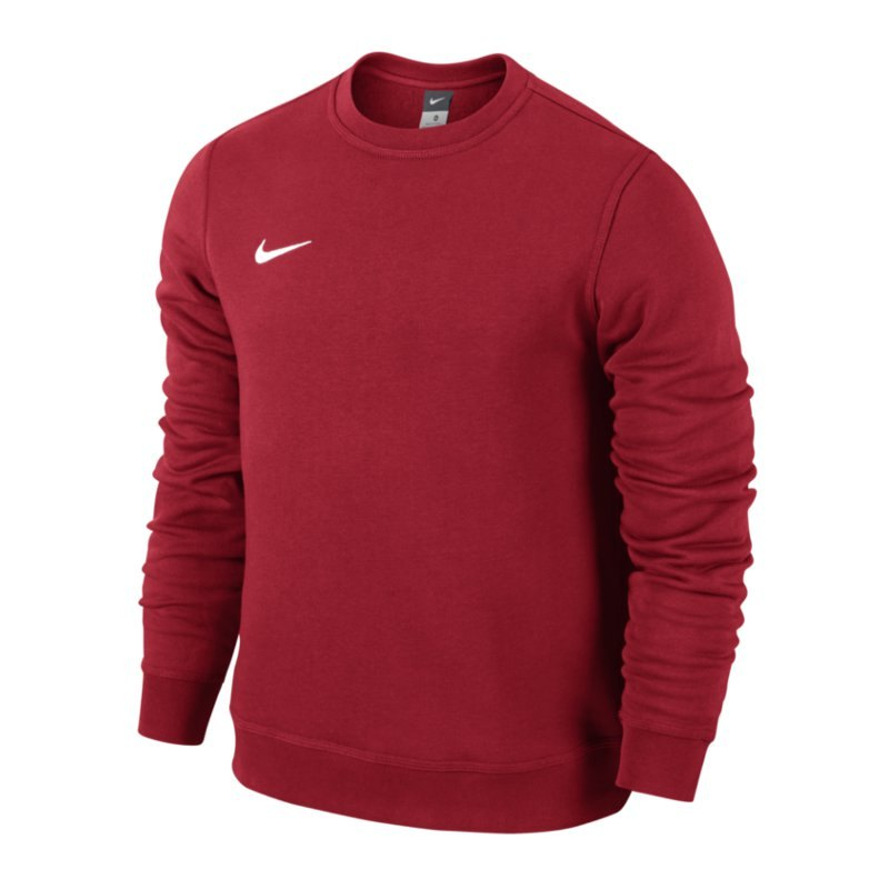 Nike Team Club Crew Sweatshirt Rot Weiss F657 - rot