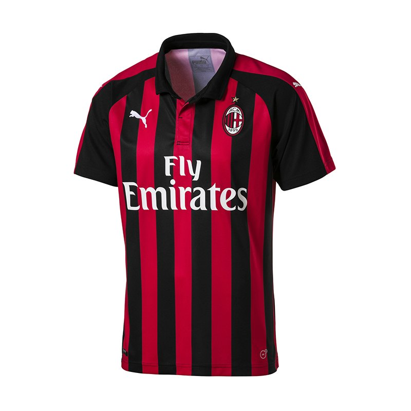 puma ac mailand trikot home 2018 2019 rot f06 fanbekleidung fantum ausr stung 10106447. Black Bedroom Furniture Sets. Home Design Ideas