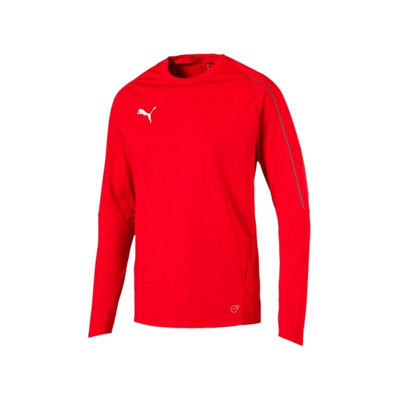 PUMA FINAL Training Sweatshirt Rot Schwarz F01 - rot