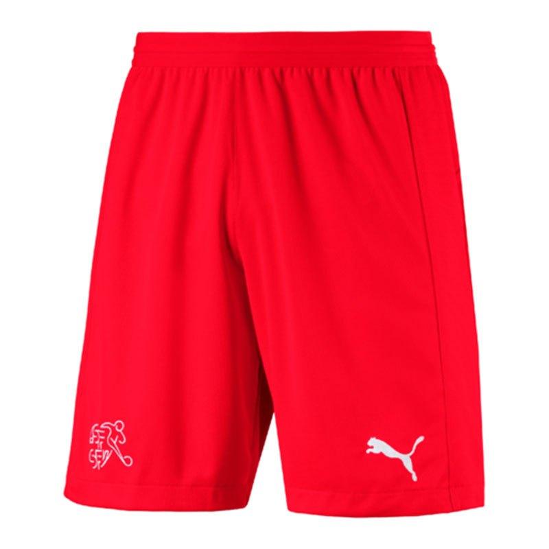 PUMA Schweiz Short Away WM 2018 Kids Rot F01 - rot