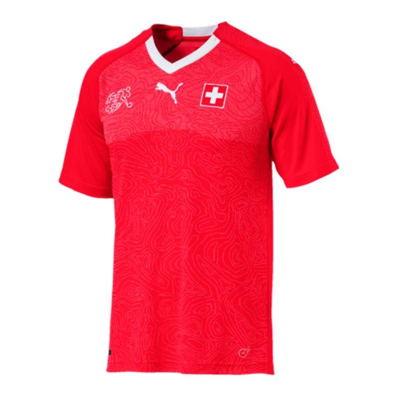 PUMA Schweiz Trikot Home WM 2018 Kids Rot F01 - rot