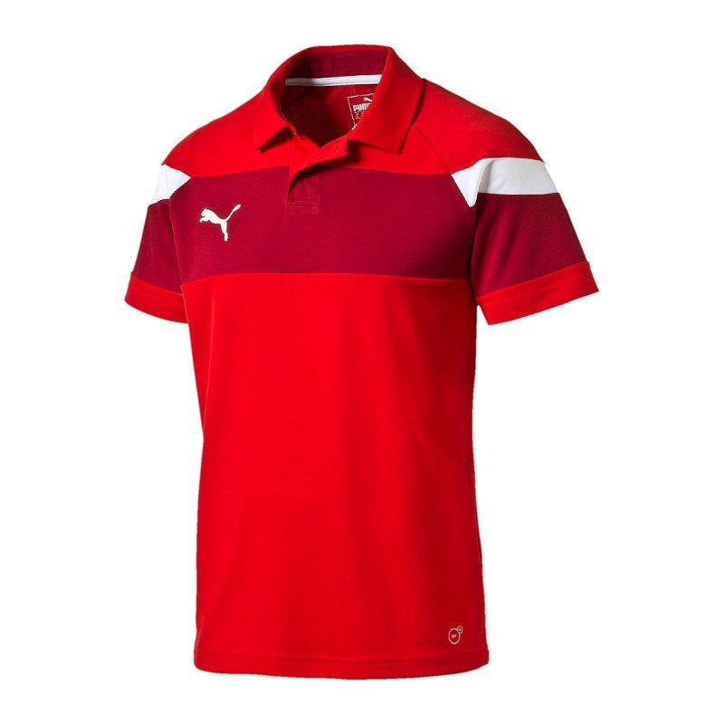 PUMA Spirit II Poloshirt Kids Rot Weiss F01 - rot