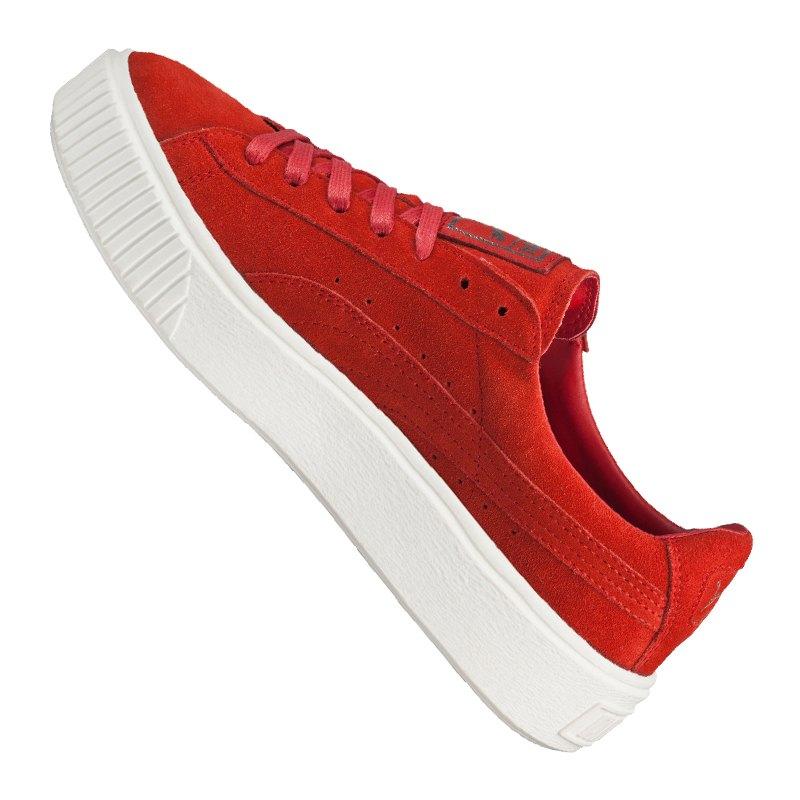 puma suede platform sneaker damen rot f03 rot. Black Bedroom Furniture Sets. Home Design Ideas