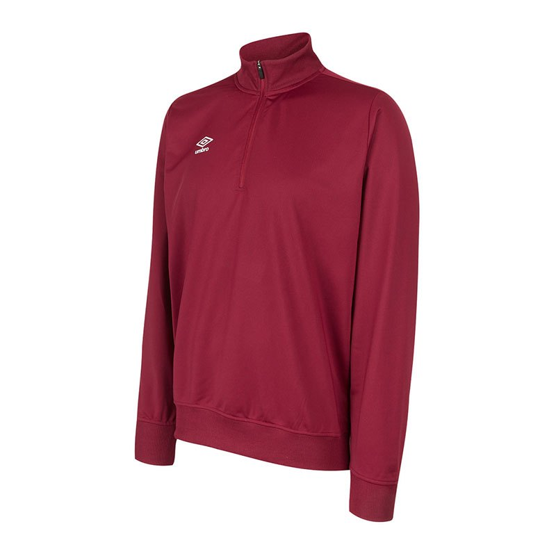 Umbro Club Essential 1/2 Zip Sweater Rot FNCL - rot