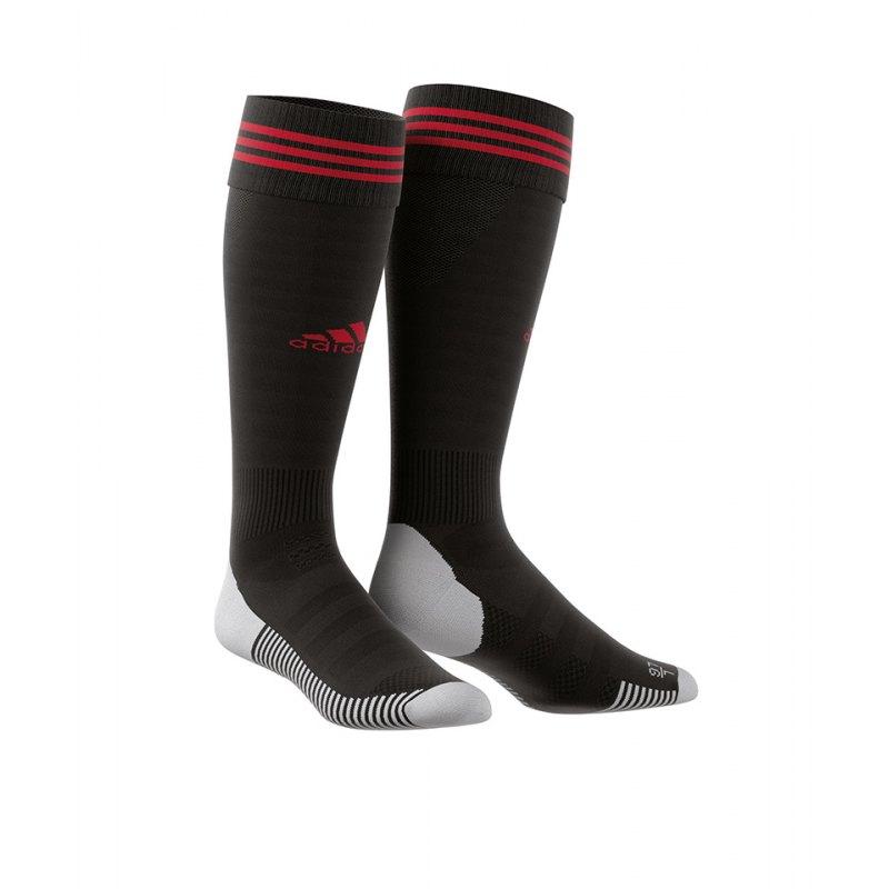 adidas Adisock 18 Stutzenstrumpf Schwarz Rot - schwarz