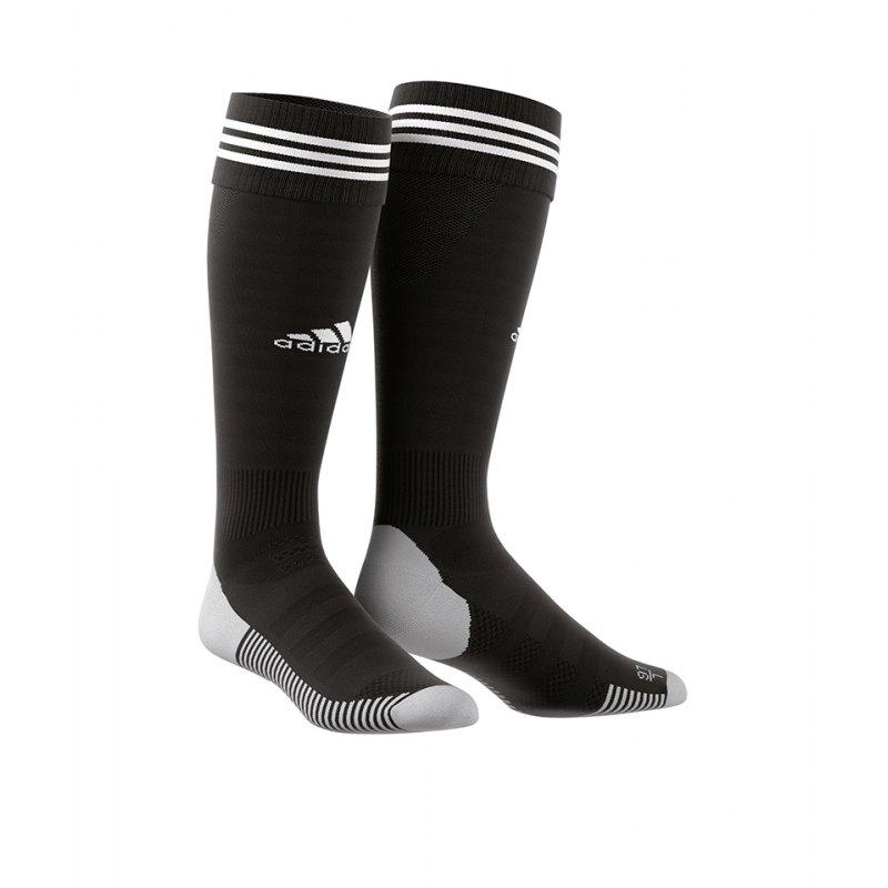 adidas Adisock 18 Stutzenstrumpf Schwarz Weiss - schwarz