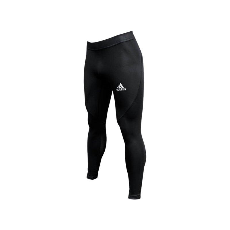 adidas Alphaskin Tight Hose lang Schwarz - schwarz