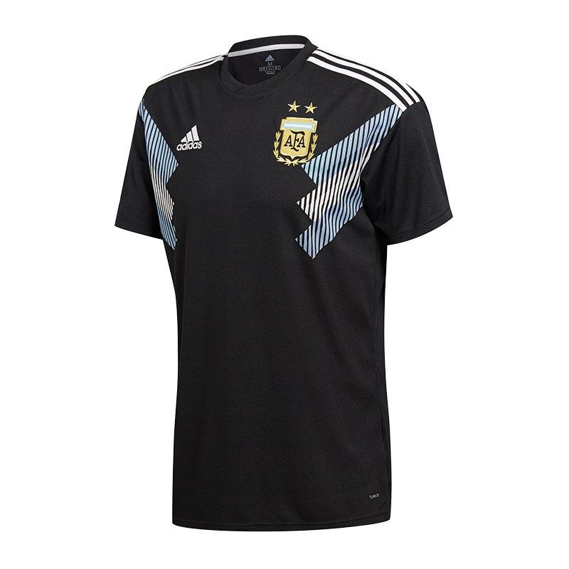 adidas Argentinien Trikot Away Kids WM18 Schwarz - schwarz