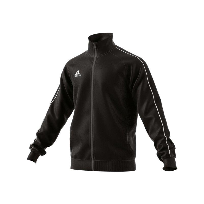 adidas Core 18 Polyesterjacke Schwarz Weiss - schwarz