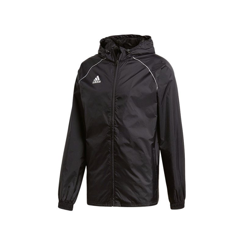 adidas jacke schwarz weiss core 18 rain jacket. Black Bedroom Furniture Sets. Home Design Ideas