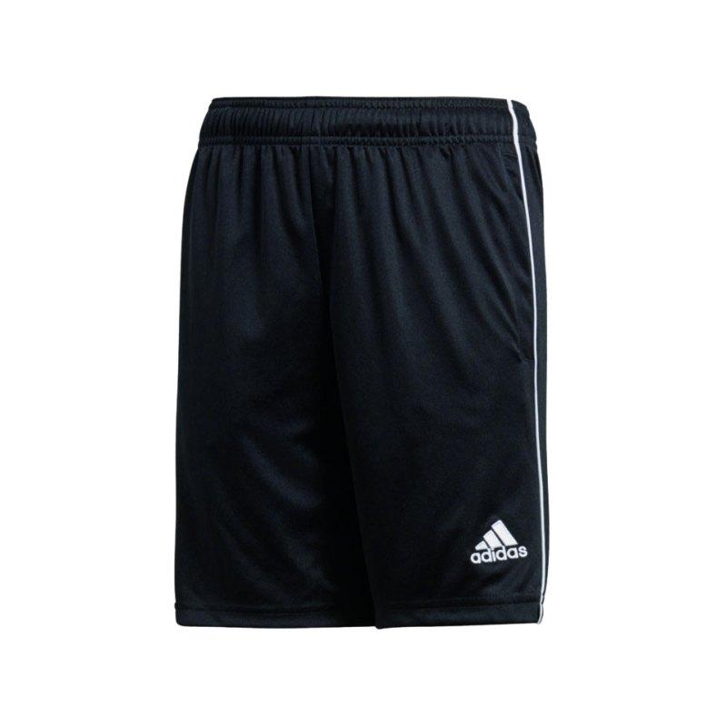 adidas Core 18 Training Short Kids Schwarz Weiss - schwarz