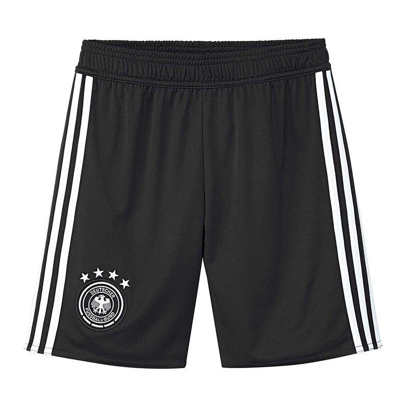 adidas Deutschland Short Home Kids WM18 Schwarz - schwarz