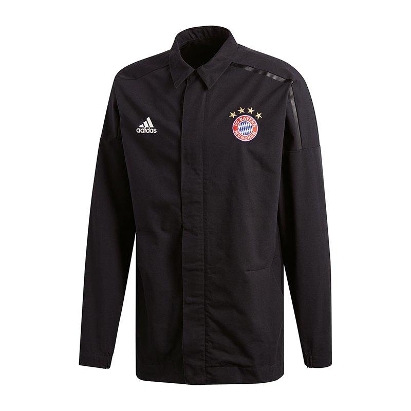 adidas FC Bayern München Z.N.E. Jacke Schwarz - schwarz