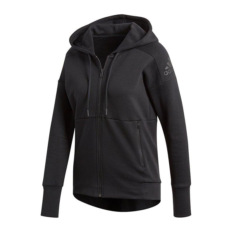 adidas kapuzenjacke damen schwarz id stadium hoodie. Black Bedroom Furniture Sets. Home Design Ideas