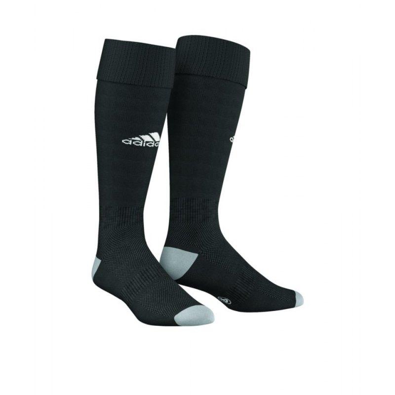 adidas Milano 16 Stutzenstrumpf Schwarz Weiss - schwarz