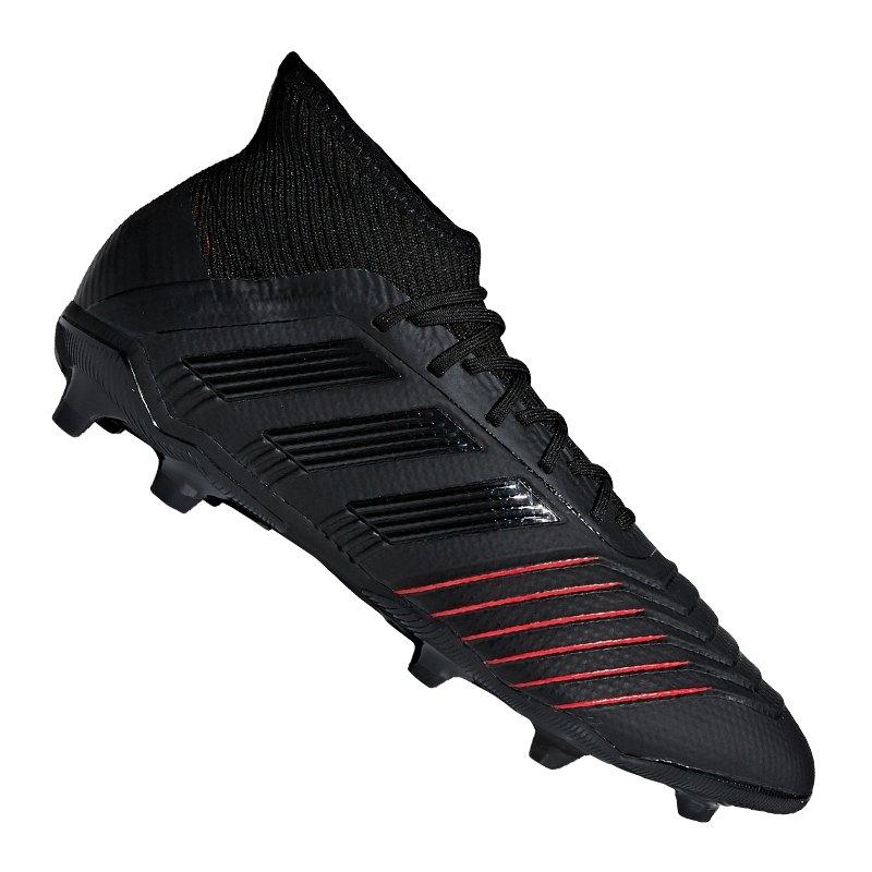 adidas Predator 19.1 FG J Kids Schwarz - schwarz