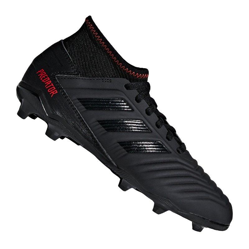 adidas Predator 19.3 FG J Kids Schwarz - schwarz