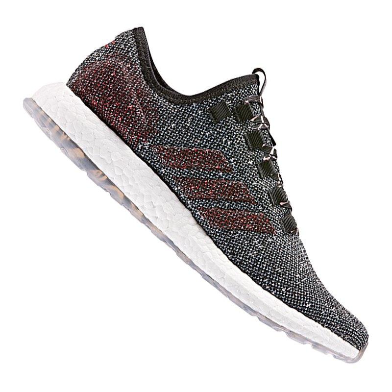 adidas Pure Boost Running Schwarz Rot - schwarz