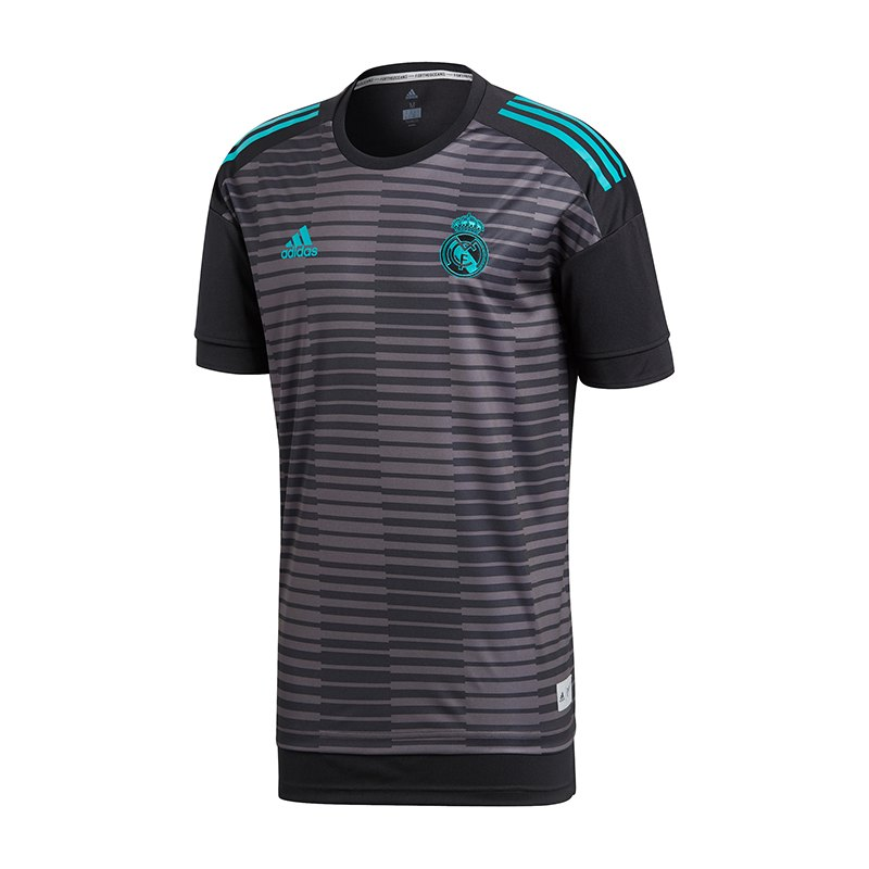 adidas Real Madrid Prematch Shirt Kids Schwarz - schwarz