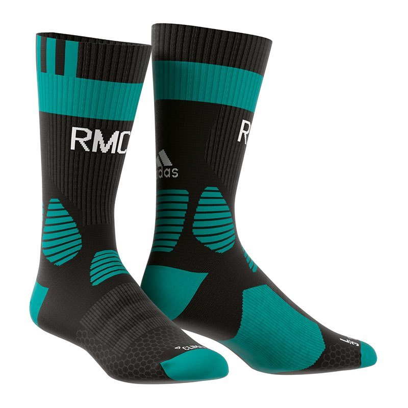adidas Real Madrid Training Socken Schwarz Grün - schwarz
