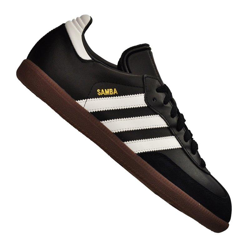 adidas Samba Hallenschuh Leder Schwarz Weiss - schwarz