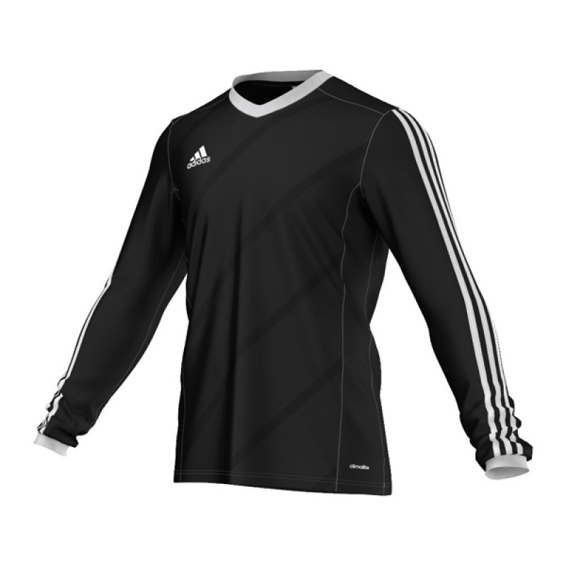 adidas tabela 14 trikot langarm schwarz weiss schwarz. Black Bedroom Furniture Sets. Home Design Ideas
