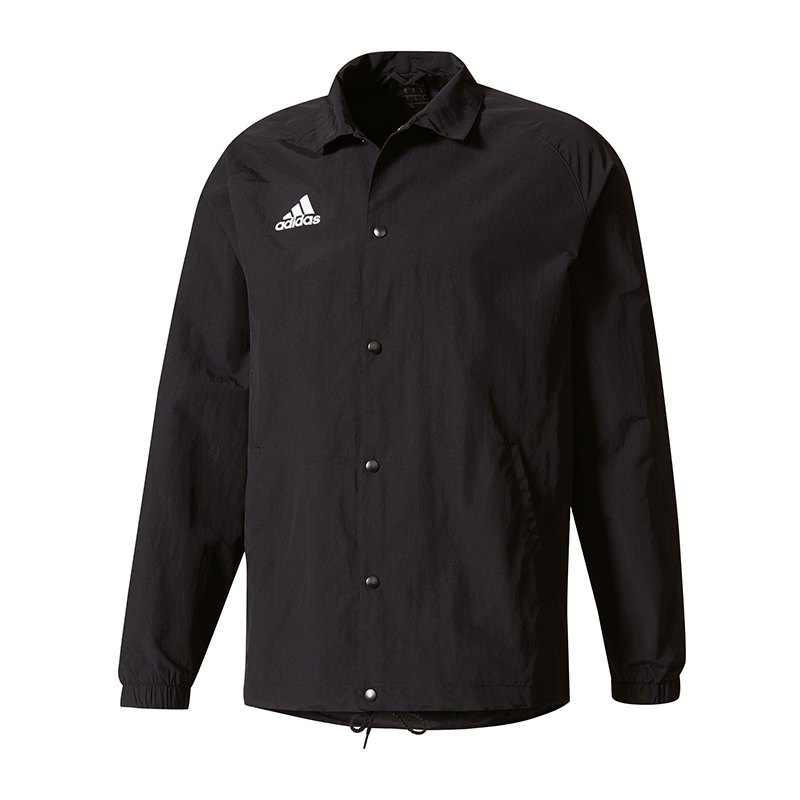 adidas tan coach jacket jacke schwarz weiss regenjacke. Black Bedroom Furniture Sets. Home Design Ideas