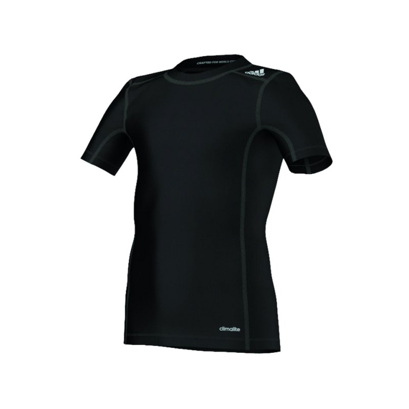 adidas Tech Fit Base Tee Kurzarmshirt Kids Schwarz - schwarz
