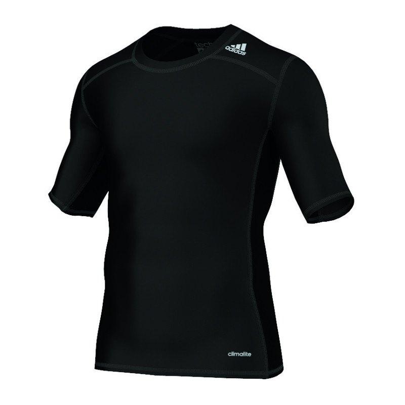 adidas Tech Fit Base Tee Kurzarmshirt Schwarz - schwarz