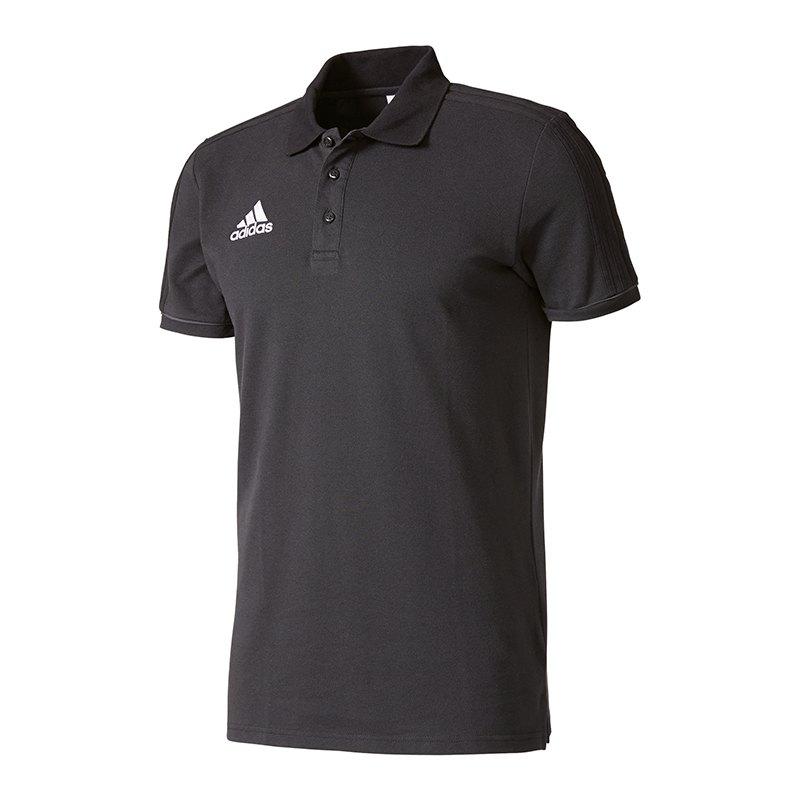 adidas Tiro 17 Poloshirt Schwarz Grau - schwarz