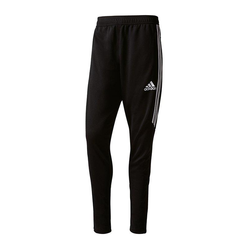 adidas Tiro 17 Training Hose lang Schwarz - schwarz